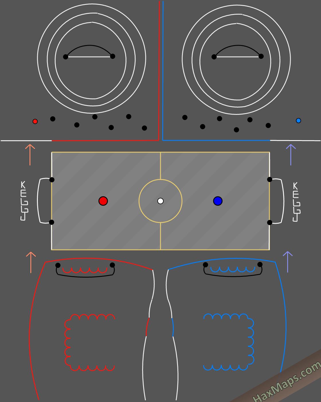 hax ball maps | ProfessionalFutsalBYKEGGJ - Soyunma Salonu - Yedek Kulübesi - Antrenman Sahası - Süpersonic Futsal Map