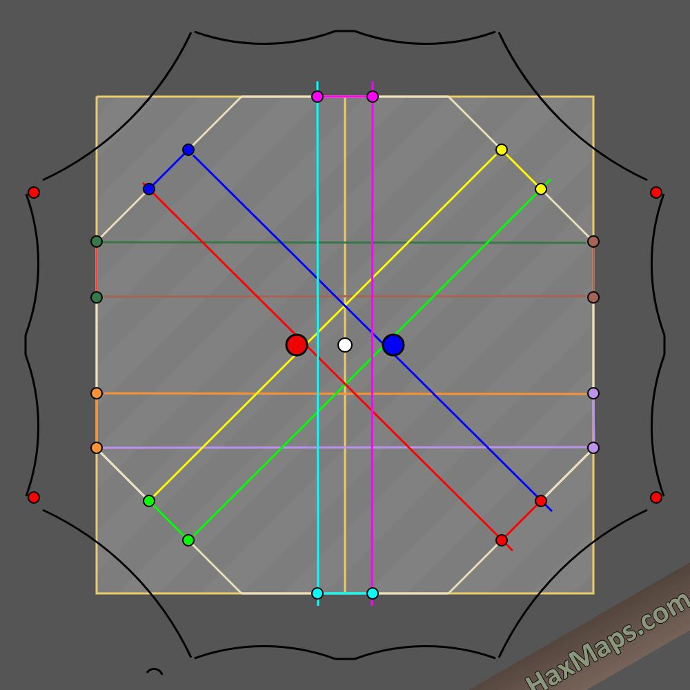 hax ball maps   10man increased goal post power
